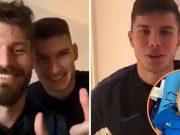 Dinamovci oduševili : Čestitali rođendan malom Šimunu (2)