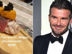 David Beckham oduševljen japanskom kuhinjom, jeo spermu bakalara