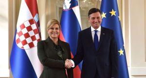 FOTO: POSLJEDNJI INOZEMNI POSJET U MANDATU Grabar-Kitarović pozvala Ljubljanu na nastavak razgovora sa Zagrebom