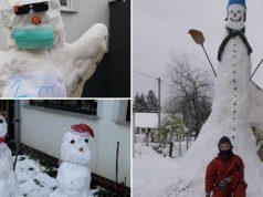 Kad snjegovići marširaju: Kraj Daruvara bijeli div od 4 metra