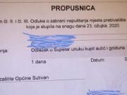 Propusnica s Brača postala hit: 'Unuku kupiti autić i goldune...'