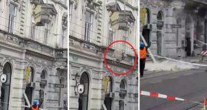 Spuštali kupolu u Ilici, dio se odvojio i pao jako blizu radnika