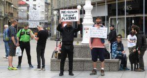 Svega par ljudi prosvjedovalo u Zagrebu protiv 5G tehnologije i cijepljenja