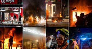 FOTO: VATRENE ULICE DILJEM AMERIKE Eskalirali neredi zbog ubojstva Afroamerikanca, ubijen jedan policijski službenik: 'Ovo je razuzdano uništavanje'