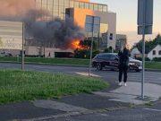 Požar kod zgrade NSK u Zagrebu: Stigli su vatrogasci