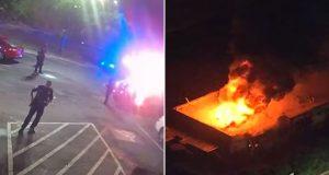 VIDEO: KAOS I ANARHIJA U ATLANTI Prosvjednici spalili restoran u kojem su policajci ubili tamnoputog muškarca, šefica policije dala ostavku