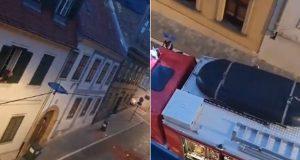 VIDEO: U CENTRU ZAGREBA SE URUŠILO KROVIŠTE Desetak kvadratnih metara crijepa palo na cestu, nema ozlijeđenih