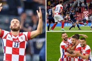 Hrvatska - Škotska 1-0, gol Nikole Vlašića