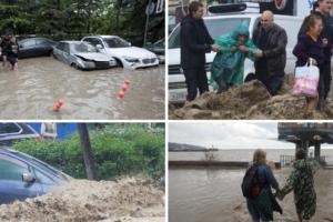 Jake kiše pogodile Krim: Bujica čupala stabla i blokirala promet, jedan mladić poginuo