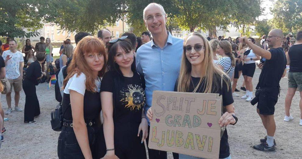 Deseti Pride došao je podržati i Puljak: 'Split je grad ljubavi'