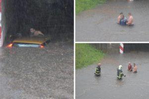 Heroji spasili dvoje ljudi: 'Auto je bio potopljen, a nitko nije izlazio. Brzo smo skočili u vodu'