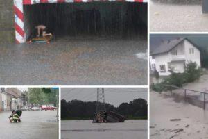 Jake kiše poharale su istočni dio Hrvatske, BiH, zapad Europe: Za danas su izdali više upozorenja