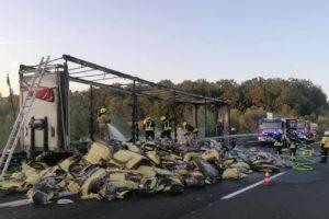 Buktinja kod Maribora: Potpuno izgorjela prikolica puna izolacije