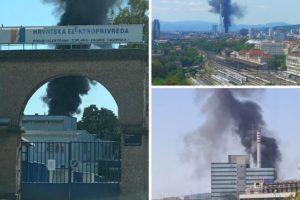 Građane uznemirio crni gusti dim: Zapalili se rashladni uređaji u zagrebačkoj toplani