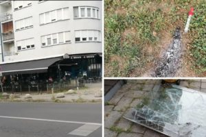 Jutro nakon kaosa u Dubravi: Huligani iza sebe ostavili palice, razbijene terase kafića, staklo...