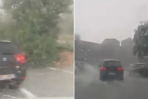 Potop u Dubrovniku: Vjetar srušio stablo, udar groma izazvao požar iznad Brsečina