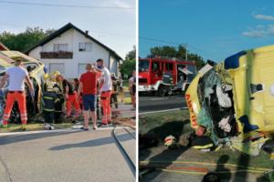 Teška nesreća kod Virovitice: U sudaru Hitne i auta ozlijeđeno nekoliko ljudi: 'U bolnici su'
