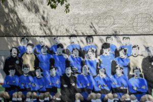 Dinamovi navijači izradili su grafit u čast legendama iz 1982.