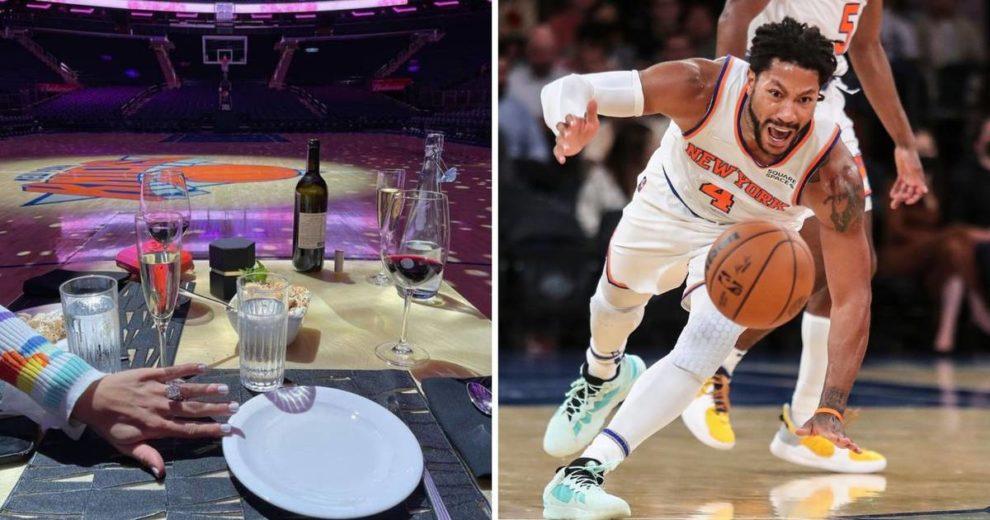 Derrick Rose zaprosio djevojku na parketu Madison Square Gardena