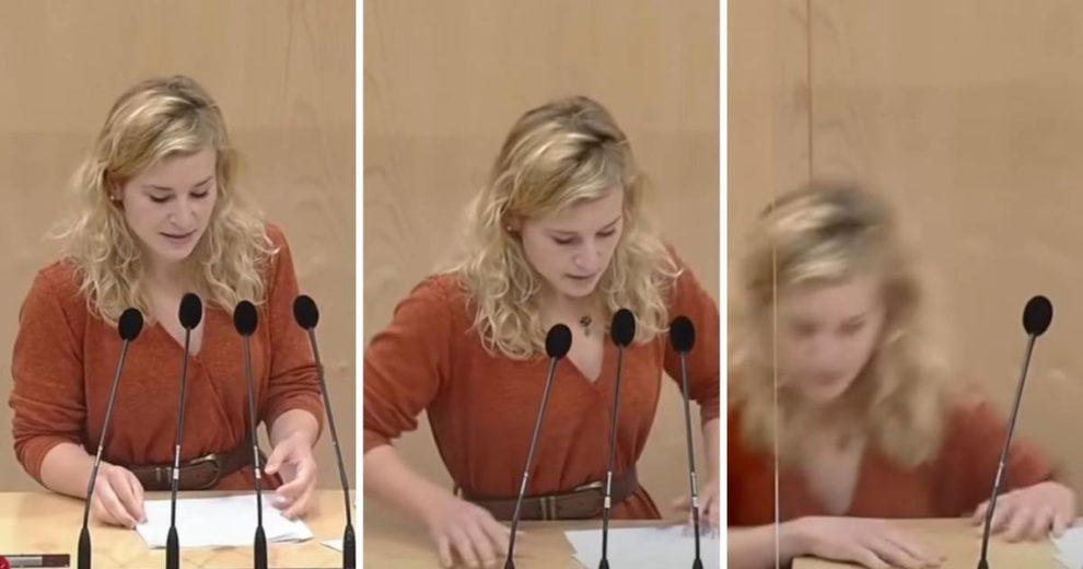 Drama u parlamentu: Pričala o Kurzu pa je pala u nesvijest
