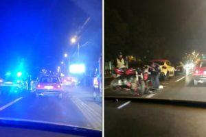 Nesreća u Zagrebu: Sudarili se 2 auta i motorist, ima ozlijeđenih